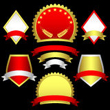 Reeks emblemen en banners. Royalty-vrije Stock Foto's