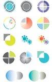 Reeks emblemen op basis van een cirkel Stock Fotografie