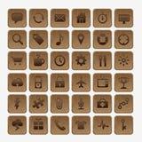 Reeks emblemen, pictogrammen, emblemen, symbolen voor travelli Stock Foto