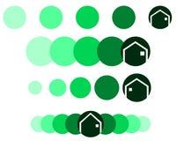 Reeks Emblemen voor architecten of makelaars in onroerend goed Royalty-vrije Stock Foto