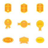 Reeks emblemen voor honingsproducten Royalty-vrije Stock Afbeeldingen