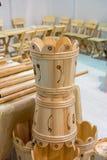 Reeks emmers van hout wordt gemaakt dat Royalty-vrije Stock Foto