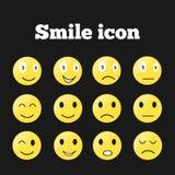 Reeks emoticons Royalty-vrije Stock Afbeelding
