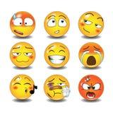 Reeks emoticons Royalty-vrije Stock Foto
