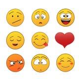Reeks emoticons Royalty-vrije Stock Fotografie