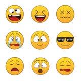 Reeks emoticons Stock Foto