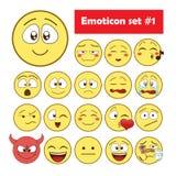Reeks emoticons Stock Fotografie