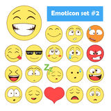 Reeks emoticons royalty-vrije stock fotografie