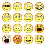 Reeks emoticons stock illustratie