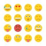 Reeks emoticons Emoji Stock Afbeeldingen
