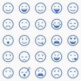 Reeks emoticons Reeks van Emoji Reeks van Avatar Royalty-vrije Stock Afbeelding