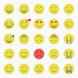 Reeks emoticons Reeks van Emoji Reeks van Avatar Stock Afbeelding