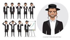 Reeks emoties voor de van bedrijfs Jood mens royalty-vrije illustratie