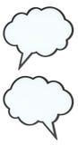 Reeks emptyspeechbellen (markeringswolken) Stock Afbeeldingen