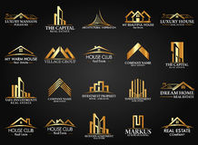 Reeks en Groep Real Estate, de Bouw en Bouw Logo Vector Design