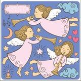 Reeks engelen royalty-vrije illustratie