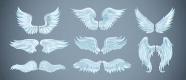 Reeks engelenvleugels met verschillende vormen Vector illustratie vector illustratie