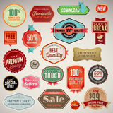 Reeks etiketten en stickers Stock Foto's