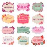 Reeks etiketten en stickers Stock Afbeelding