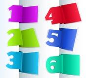 Reeks Etiketten van de Markering van het Document stock illustratie