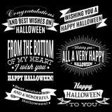 Reeks etiketten voor Halloween-vakantie stock illustratie