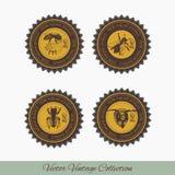 Reeks etiketten voor honing Royalty-vrije Stock Afbeeldingen