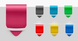 Reeks etikettenkentekens en stickers. Vector. Royalty-vrije Stock Afbeelding