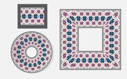 Reeks Etnische borstels van het ornamentpatroon Royalty-vrije Stock Afbeeldingen