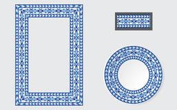Reeks Etnische borstels van het ornamentpatroon vector illustratie