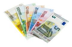 Reeks euro bankbiljetten Royalty-vrije Stock Foto's