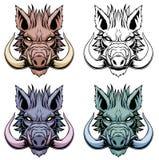Reeks everzwijnhoofden vector illustratie