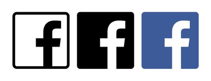 Reeks Facebook-pictogrammen vector illustratie