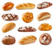 Reeks foto's met bakkerijproducten Royalty-vrije Stock Foto's