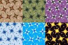 Reeks fractals en elementen van omwenteling Royalty-vrije Stock Foto's