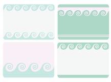 Reeks frames Royalty-vrije Stock Foto's