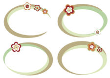 Reeks frames met bloemen Stock Foto