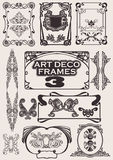 Reeks Frames van het Art deco. Stock Afbeelding