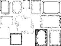 Reeks Frames van het Art deco Stock Fotografie