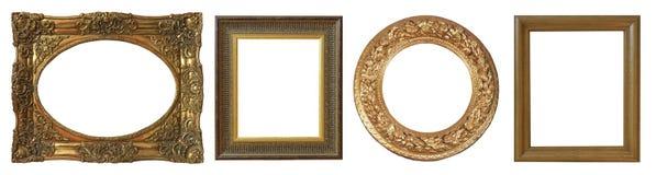 Reeks geïsoleerde kunst lege kaders royalty-vrije stock afbeelding