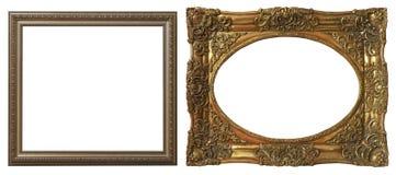 Reeks geïsoleerde kunst lege kaders stock afbeeldingen