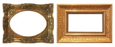 Reeks geïsoleerde kunst lege kaders royalty-vrije stock foto