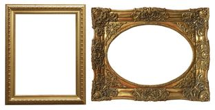 Reeks geïsoleerde kunst lege kaders royalty-vrije stock fotografie