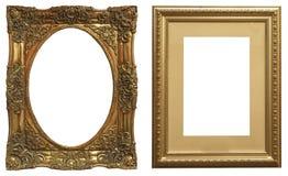 Reeks geïsoleerde kunst lege kaders stock foto's