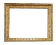 Reeks geïsoleerde kunst lege kaders in gouden stock foto