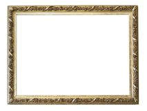 Reeks geïsoleerde kunst lege kaders in gouden stock fotografie