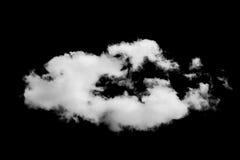 Reeks geïsoleerde wolken over zwarte stock foto