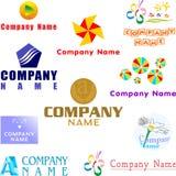 Reeks geassorteerde embleemvoorbeelden Royalty-vrije Stock Afbeelding