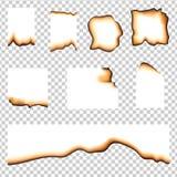 Reeks gebrande stukken van document stock illustratie