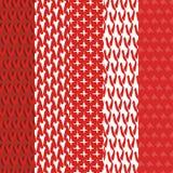 Reeks gebreide texturen Vector Illustratie