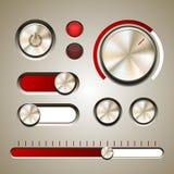 Reeks gedetailleerde UI-elementen Stock Foto's